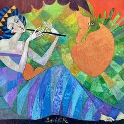 Dziewczyna grająca na flecie – Jan Bonawentura Ostrowski