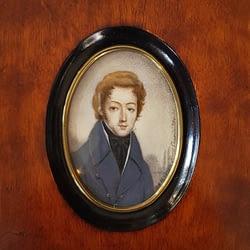 Portret mężczyzny, miniatura – Anna Jaxa-Chamiec